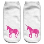 Trainer Socks - Pink Unicorn