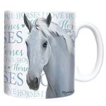 Chunky Mug -  WHITE:   I Love Horses