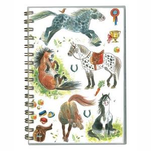 A5 Wiro Notebook: Happy Horses
