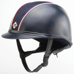 Leather Look Ayr8 PLUS Hats Navy/Red/White ROUND