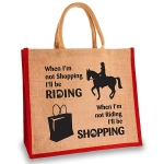 Elico Jute Shopper - Riding & Shopping