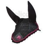 Elico Deluxe Horse Bonnet - Black/Pink