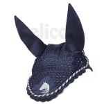 Elico Deluxe Horse Bonnet - Navy/Silver