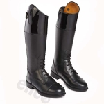 Chelico Amelia Kids Patent-Top Riding Boots (z)