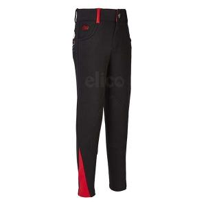Elico Alex Childrens Breeches Black/Red