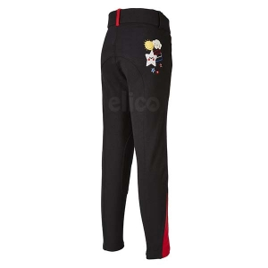 Elico Alex Childrens Breeches Black/Red