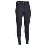 Elico Brooklyn Ladies Breeches   Navy/Teal