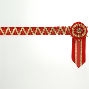 Ludlow Browband  Red/Red/Gold Full