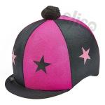 Capz Lycra STARS Cerise/Black + Pom Pom
