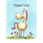 Silly Filly Thank You Cards  (x 6)