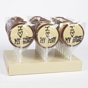 Chocolate Lollies: I Love.. (x 24)