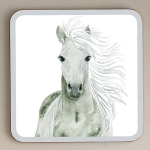 Grey Horse Melamine Coasters (pack of 6)