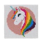Mini Cross Stitch Kit: Unicorn
