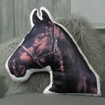 Adorable Horse Shaped Cushion - Black