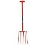 WF36  Manure Fork (6 Prong) Red
