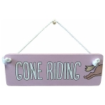 Wooden Hanger: Gone Riding