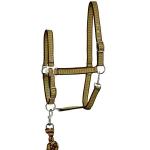 Elico Gosforth Headcollar/Rope Set - Lime/Orange