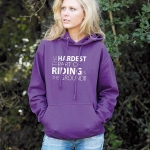 HWA Ladies Hardest Part of Riding Hoodie  X-Large