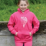 HWA Childs Glamour Hoodie Pink age 7/8