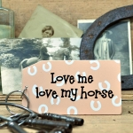 Wooden Key Ring: Love me Love Horse (x3)