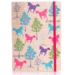 Milly Green Ponies A5 Notebook