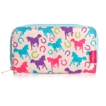 Milly Green Ponies PVC Coated Wallet