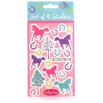 Milly Green Ponies Stickers  (x 10)