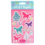 Milly Green Ponies Magnet Set (x4)