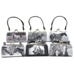 Mini Bags: Black/White   (x 6)