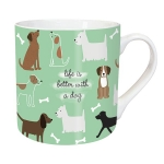 Chunky Mug - Playful Dogs