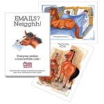 Notecards:  Emails? ..  neighhh !