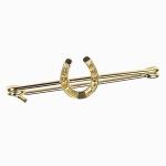 EE03 Elico Stock Pin - Horseshoe (Gold)