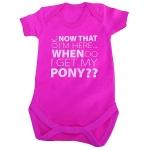 Baby Romper - My Pony  Pink