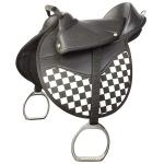 Grand Prix Kidz Saddle - Black/White