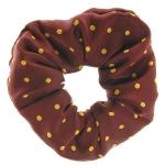 Medium Spot Scrunchie Burgundy/Sunshine