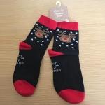 Kids Socks: I got here on my Reindeer