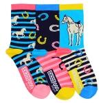 Childrens 3 Odd Socks - Horse