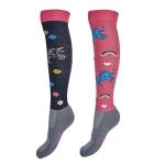 Elico Riding Socks - Unicorn Pink