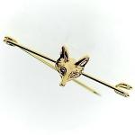 Showquest Fox Head Stock Pin - Gold