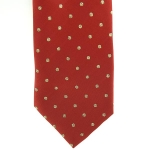 Lurex Spot Tie Adults Red/Gold