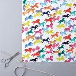 Everyday Wrap: Rainbow Ponies (x 4)